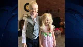 Bridger Walker and his sister.