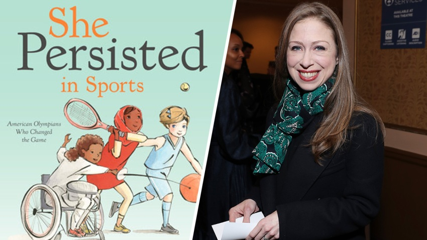 "Book cover for ""She Persisted in Sports"" by Chelsea Clinton"