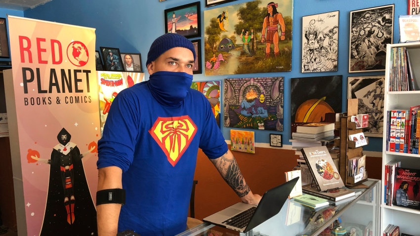 Aaron Cuffee of Red Planet Books & Comics in Albuquerque, N.M.