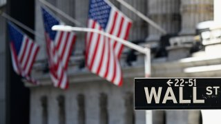 The New York Stock Exchange (NYSE) is pictured