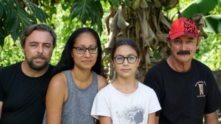 A group who have been stranded in Tahiti