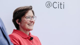 Jane Fraser, chief executive officer for Latin American at Citigroup Inc., smiles during the Milken Institute Global Conference in Beverly Hills, California, U.S., on Monday, April 29, 2019. The conference brings together leaders in business, government, technology, philanthropy, academia, and the media to discuss actionable and collaborative solutions to some of the most important questions of our time.