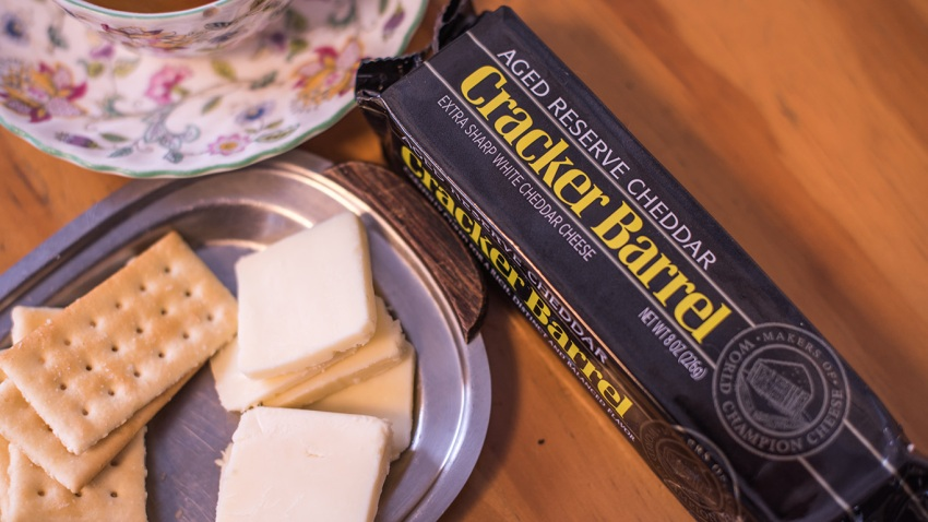 Cracker Barrel brand cheddar cheese