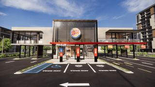 A rendering of Burger King's Next Level restaurant design.