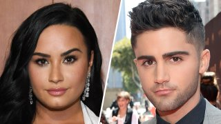 Singer Demi Lovato (left) and Actor Max Ehrich (right).