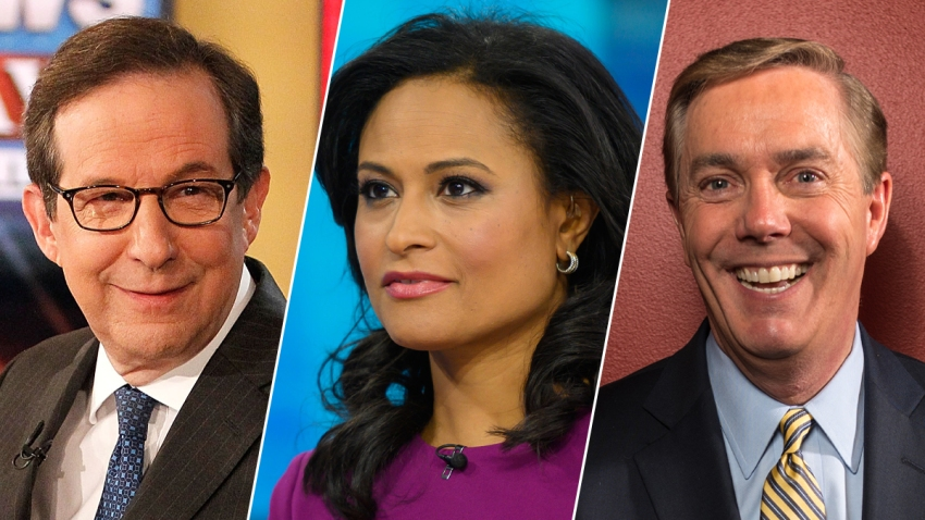 From left: Chris Wallace of Fox News, Kristen Welker of NBC and C-SPAN's Steve Scully will moderate the first three presidential debates between incumbent President Donald Trump and Democratic nominee Joe Biden.