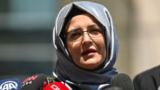 Hatice Cengiz, journalist Jamal Khashoggi's fiancee, speaks