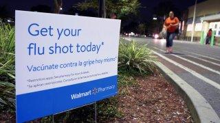 sign advertising flu shots