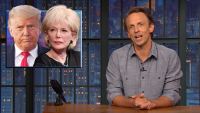 'Late Night': Closer Look at Trump Attacking CBS' Lesley Stahl