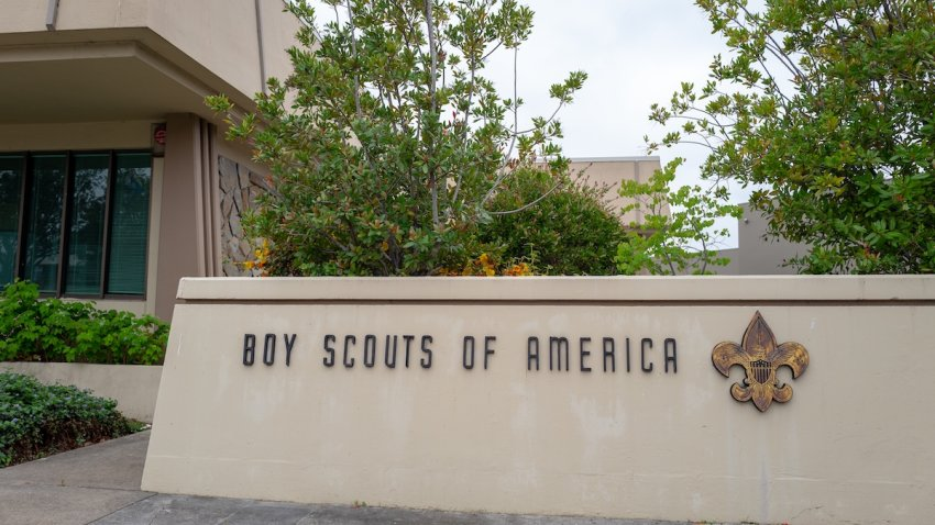 Sign with logo for Boy Scouts of America