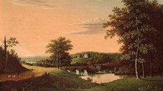 Point Breeze. the Estate of Joseph Napoleon Bonaparte at Bordentown. New Jersey.