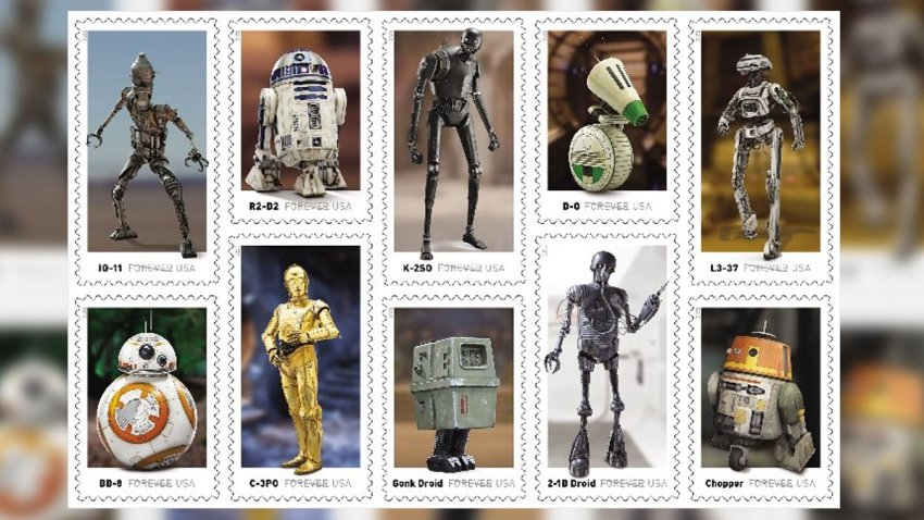 "The US Postal Service will release new ""Star Wars"" stamps in 2021"