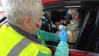 Drive-Thru COVID-19 Vaccine Clinic Causes Traffic Jams in Delaware City