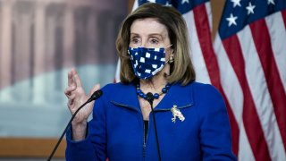 In this Feb. 4, 2021, file photo, U.S. House Speaker Nancy Pelosi, a Democrat from California, speaks during a news conference at the U.S. Capitol in Washington, D.C.