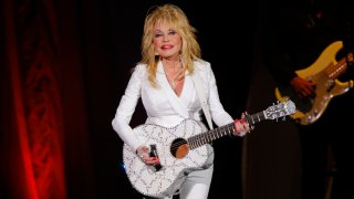 Dolly Parton performs in concert