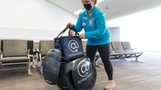 Gita delivers food at Philadelphia International Airport