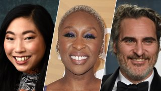 This combination photo shows, from left, Awkwafina, Cynthia Erivo and Joaquin Phoenix, who are among the first presenters announced for the Golden Globes awards ceremony.