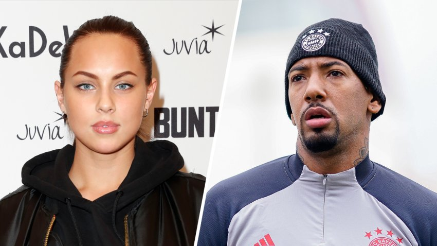 Model Kasia Lenhardt, left, had died at the age of 25. She had been dating soccer star Jérôme Boateng, right, shortly before her death.