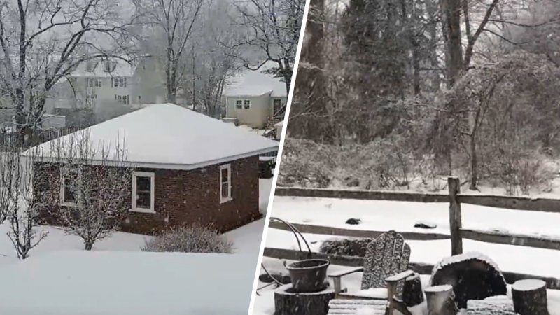 PICTURES: Snow From Quick-Moving Storm Blankets Philadelphia Region