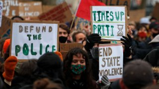 Britain Woman Slain protest
