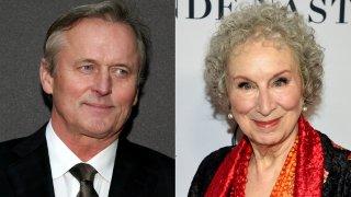 (Left) Author John Grisham, (Right) Author Margaret Atwood