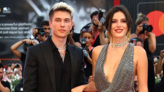 In this Aug. 31, 2019, file photo, Bella Thorne and Benjamin Mascolo pose for photographers upon arrival at the premiere of the film 'Joker' at the 76th edition of the Venice Film Festival, Venice, Italy.