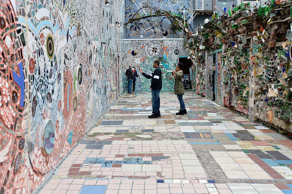A general view of Philadelphia's Magic Gardens by mosaic artist Isaiah Zagar on South Street