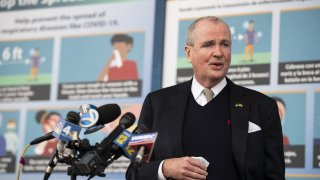 Phil Murphy, New Jersey's governor, speaks at a news conference