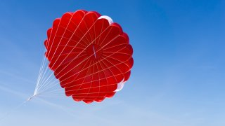 A red parachute