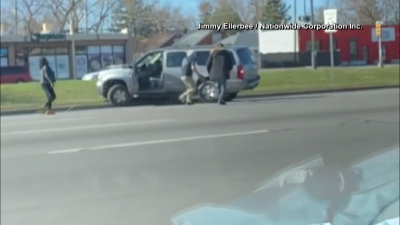 WATCH: Vehicle Stuck in Reverse on Busy Detroit Road