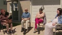 Group of Seniors in Bereavement Support Group Return to Northeast Philly Driveway