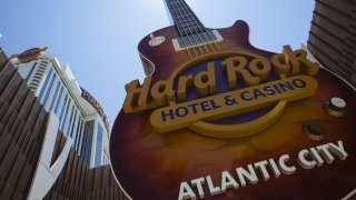 Guitar sign outside the Hard Rock Hotel and Casino in Atlantic City
