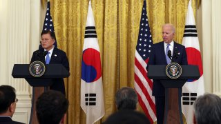 President Biden Holds Press Conference With S. Korean President Moon