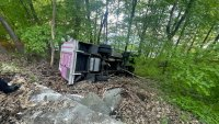 Ice Cream Truck Plummets Off New Jersey Cliff Into Ravine