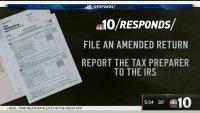 NBC10 Responds: Fixing Tax Return Issues