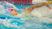 Backing Up the Talk: Outspoken King Triumphs at Swim Trials