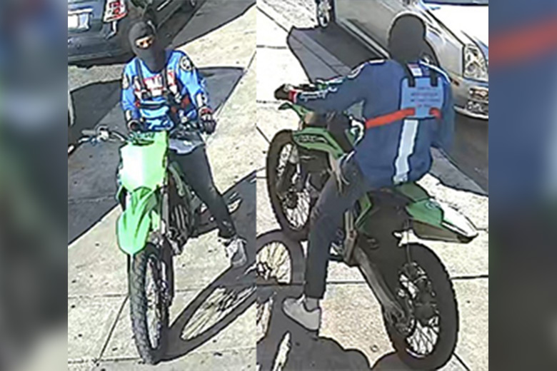 Surveillance image shows man on dirt bike wanted in a June 17, 2021 murder in Philadelphia