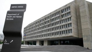 The exterior of the U.S. Department of Health and Human Services is seen August 15, 2006 in Washington, DC.