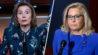 Nancy Pelosi, left, and Liz Cheney, right.