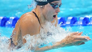 Hali Flickinger competes in the IM