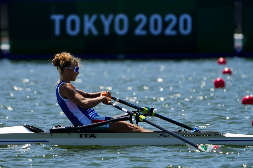 Training for rowing during the Olympics