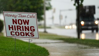 Honey Jam Cafe Hiring Sign Shown in Downers Grove, Illinois