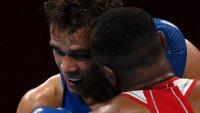 Youness Baalla Channels Mike Tyson With Attempted Bite in Olympic Boxing