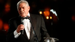 Tom T. Hall accepts the Icon Award at the 60th Annual BMI Country Awards on Tuesday Oct. 30, 2012, in Nashville, Tenn.