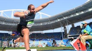 Georgia's Benik Abrahamyan, seen competing in Rio de Janeiro in 2016.