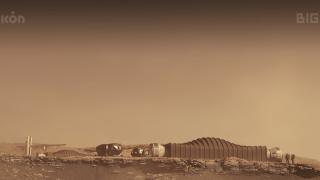 Mars Dune Alpha Conceptual Render: Visualization on Mars