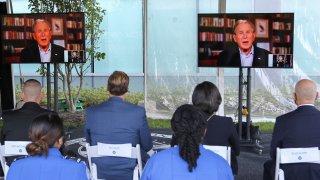 George W. Bush on television screen