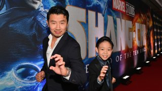 Simu Liu and Jayden Zhang 'Shang-Chi and the Legend of the Ten Rings'
