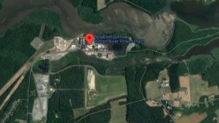 NRG Energy Indian River power plant seen on a map