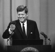 JFK Speaking Gesturing News Conference 1962